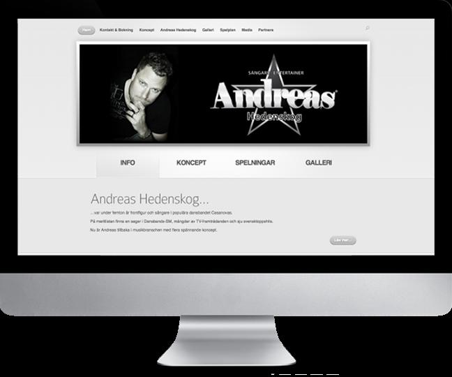 Startsidan vid ursprunglig lansering 2012