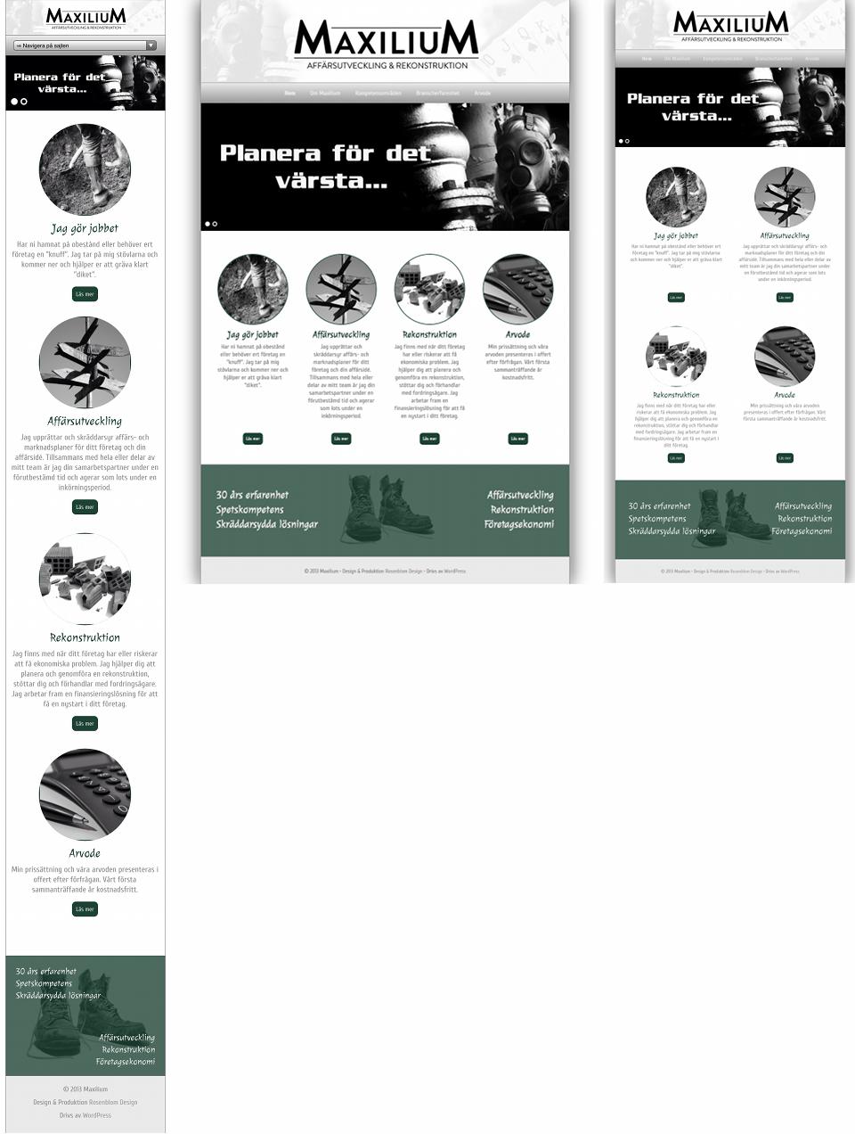 Rosenblom Design Portfolio - Maxilium
