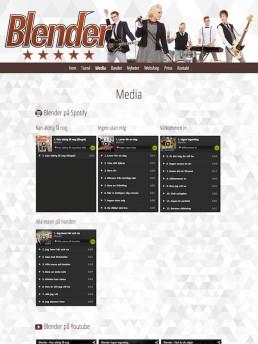 Bibliotek för musik via Spotify och Youtube