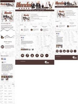 Jämförelse av startsidan i olika skärmstorlekar: smartphone/desktop/tablet