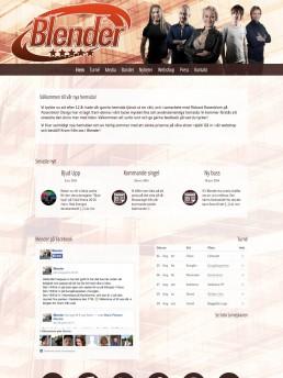 Startsidan vid ursprunglig lansering 2014
