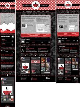 Startsidan i responsiv jämförelse. Smartphone/Desktop/Tablet