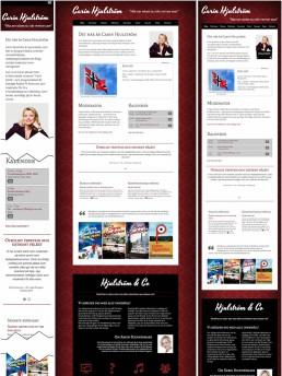 Responsiv jämförelse av startsidan. smartphone/desktop/tablet