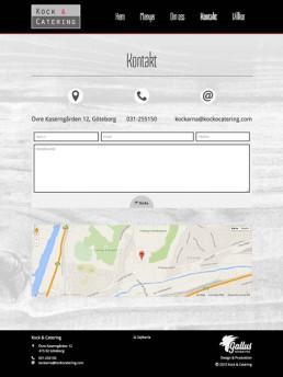 Kontaktsida med karta och kontaktformulär