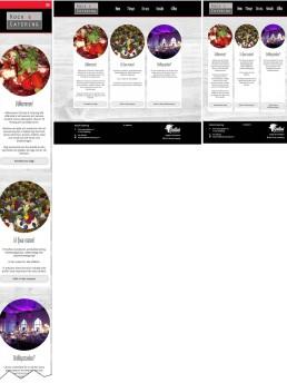 Jämförelse av startsidan i olika skärmstorlekar: mobil/desktop/tablet